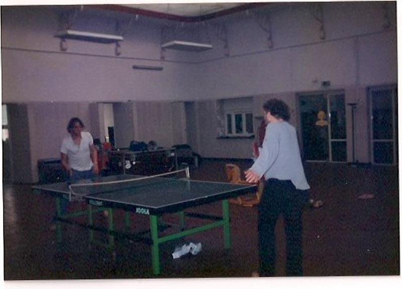 Tischtennis mit Wiglaf, Mitte 90er in Stoppoks Zeche